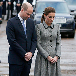 Prince William and Kate Middleton visited Leicester on an official visit yesterday