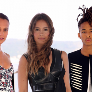 Front row: Louis Vuitton Cruise '17