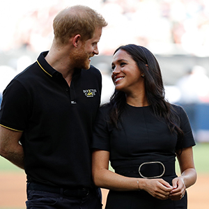 Prince Harry and Meghan Markle made a surprise appearance for London Series