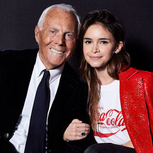 Exclusive: Mira Duma and Giorgio Armani in conversation