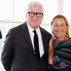 Miuccia Prada and Patrizio Bertelli unveil the Prada Foundation's new HQ
