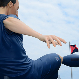 Nike install huge football figures in Hong Kong