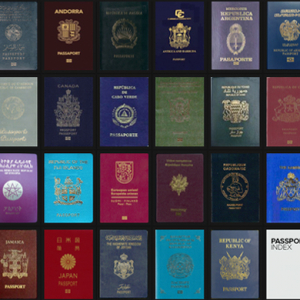 The world's passports are ranked and ordered via the Passport Index