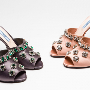 New in: Prada's spazzolato, sneakers and stilettos