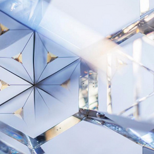 Swarovski and Emirati designer showcases kaleidoscopic installation
