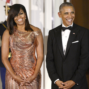 The Obamas host final state dinner