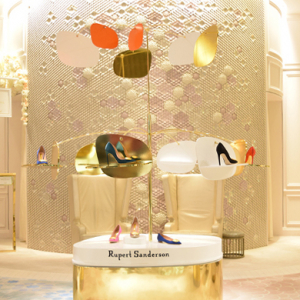 Rupert Sanderson unveils 24-karat gold-leafed shoe capsule collection for Dubai pop-up
