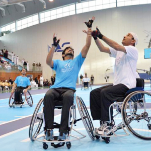 Buro Loves: Sheikh Hamdan plays basketball with UAE wheelchair team
