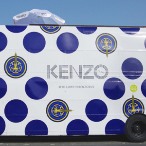 The Kenzo Fashion Bus makes a stylish stop in Dubai