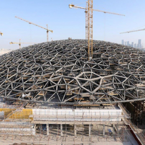 The Louvre Abu Dhabi's dome is successfully positioned