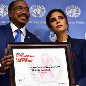 Victoria Beckham makes speech for the United Nations