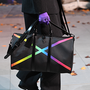 Virgil Abloh combines design and street art for Louis Vuitton's Tambour Slim Rainbow watch