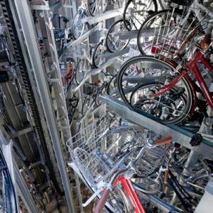 A look at Japan's high-tech underground bike parking system