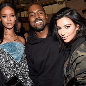 Beyoncé, Kim Kardashian, Anna Wintour and Rihanna at Kanye West's NYFW show