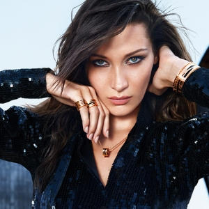 Bella Hadid is still a rock star in Bvlgari's B.zero1 20th anniversary campaign