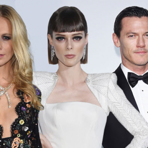 Heidi Klum hosts the 2014 amfAR Milano gala