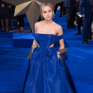 Brie Larson wore a jaw-dropping custom Valentino gown last night
