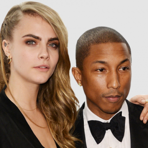 Cara Delevingne has recorded a song with Pharrell Williams