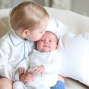 The first images of Princess Charlotte with brother Prince George are here