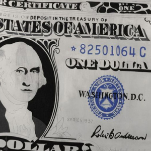 Andy Warhol's 'One Dollar Bill' sells for $32.8 million