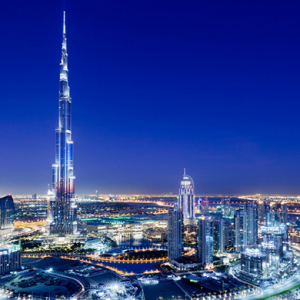 The Burj Khalifa makes it to the moon and breaks a new world record