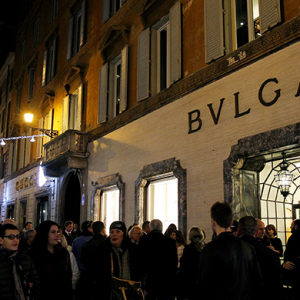 Bulgari debuts Christmas light installation the heart of Rome