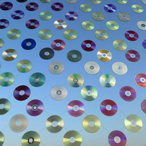 Architectural firm creates an installation from 6,000 CDs