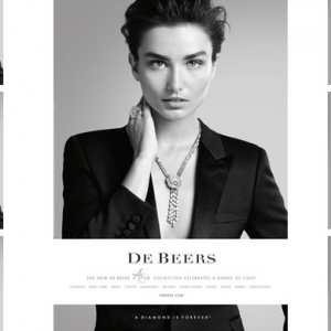 De Beers unveils new campaign with Andreea Diaconu