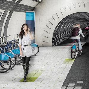 Gensler design firm proposes new cycle paths in London's abandoned undergrounds