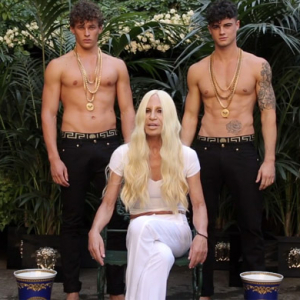 Donatella Versace does the ALS Ice Bucket Challenge