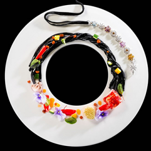 Edible jewellery by the Ritz Carlton in Hong Kong