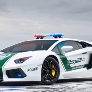 The world's fastest police car belongs to Dubai