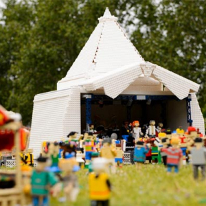 Glastonbury created in lego to celebrate opening today