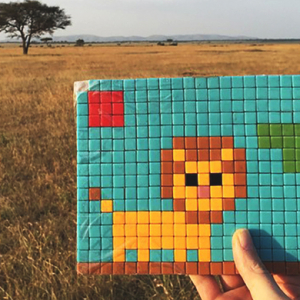 Invader roams the Serengeti with a new series of street art