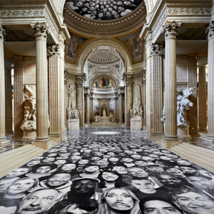JR's 'Inside Out' graces the floors and walls of Paris' Pantheon