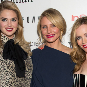 Kate Upton and Cameron Diaz at 'The Other Woman' NYC premiere