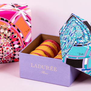 Ladurée and Emilio Pucci collaborate for limited-edition macarons