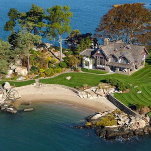 A luxury private island estate in Connecticut goes on sale
