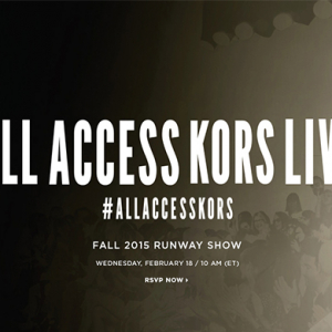 Watch Live: Michael Kors Autumn/Winter 15 show live from New York Fashion Week