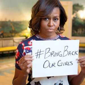 Michelle Obama and Malala Yousafzai join the #BringBackOurGirls movement