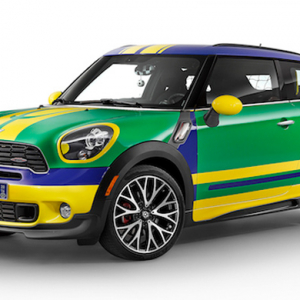 Mini unveils new car for the 2014 FIFA World Cup in Brazil