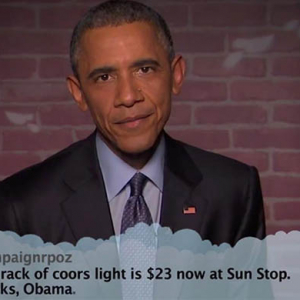 Obama reads mean tweets about himself on Jimmy Kimmel