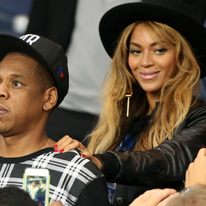 Beyonce, Jay-Z and David Beckham watch Paris Saint-Germain v FC Barcelona