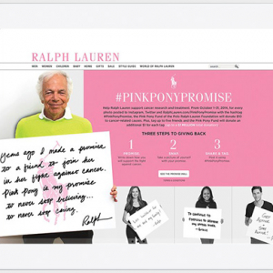 Ralph Lauren launches social media initiative to fight breast cancer