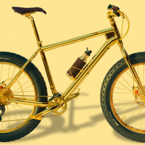 The 24k gold-plated extreme mountain bike
