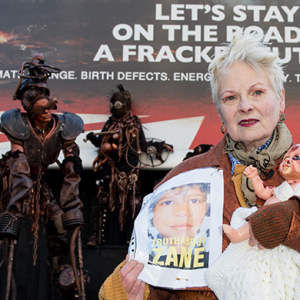 Vivienne Westwood holds demonstration in London for anti-fracking