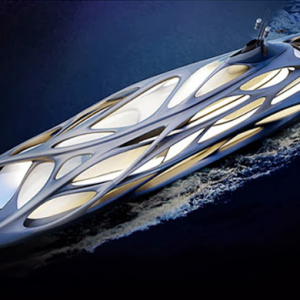 Zaha Hadid's jazz superyacht for Blohm+Voss