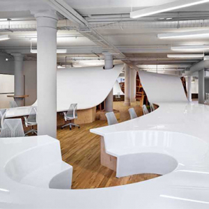 The New York office that has installed a 'Superdesk'