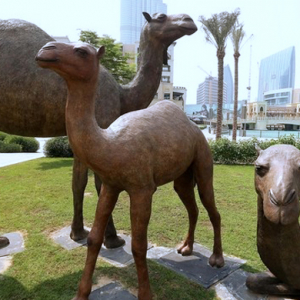 Emaar reveals new camel statue in Dubai