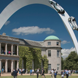 The Mercedes-Benz sculpture at Goodwood Festival of Speed